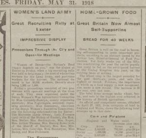 Land army 1918 Western Times